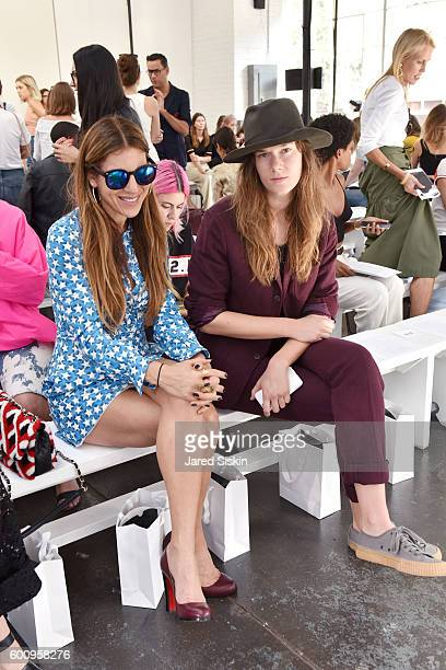 Dani Stahl and Ashley Owens attend the Creatures of Comfort Front Row September 2016 New York Fashion Week at Industria Studios on September 8 2016...