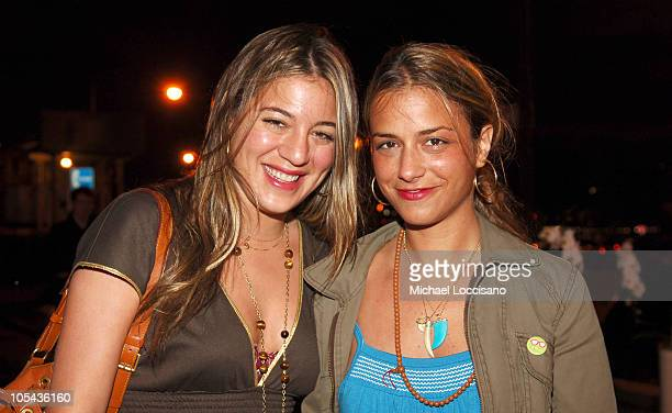 Dani Stahl and Charlotte Ronson during Calvin Klein Underwear Wrap Up Dinner June 16 2005 at Perry St in New York City New York United States