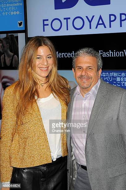 Dani Stahl and David Lucatch attend Badgley Mischka with Yappn Corp Brings Fotoyapp To MercedesBenz Fashion Week at Lincoln Center on September 9...