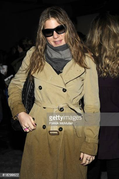 Dani Stahl attends BURBERRY Live 3D streaming of AW10 Womenswear show at Skylight Studio on February 23 2010 in New York City