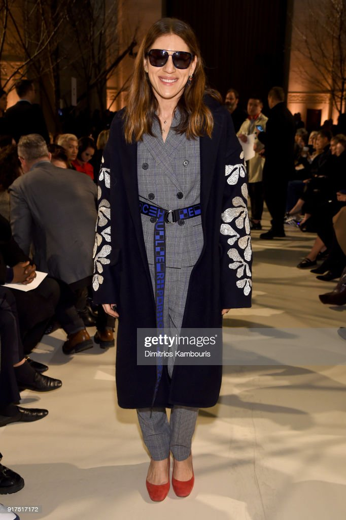Dani Stahl attends the Oscar De La Renta fashion show during New York Fashion Week: The Shows at The Cunard Building on February 12, 2018 in New York City.