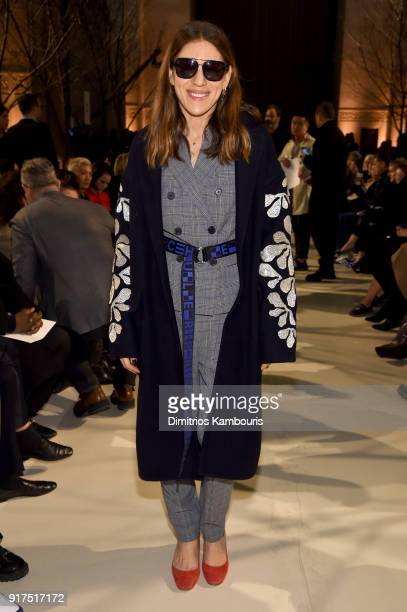 Dani Stahl attends the Oscar De La Renta fashion show during New York Fashion Week The Shows at The Cunard Building on February 12 2018 in New York...