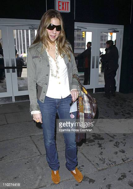 Dani Stahl during Olympus Fashion Week Fall 2006 Seen Around Tent Day 2 at Bryant Park in New York City New York United States