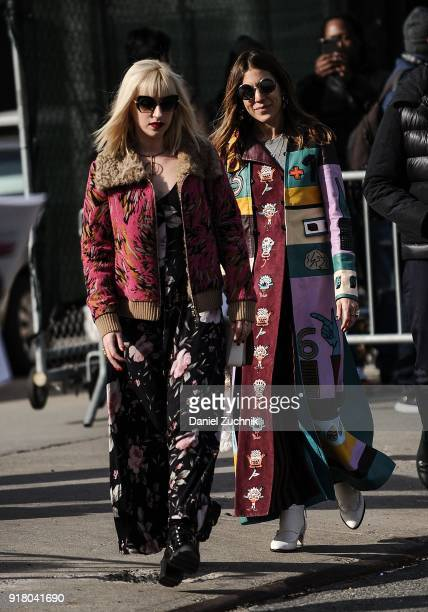Dani Stahl is seen outside the Coach show during New York Fashion Week Women's A/W 2018 on February 13 2018 in New York City