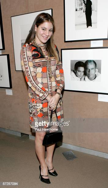 Dani Stahl of Nylon Magazine attends an auction of photographer Francesco Scavullo's work benefiting Fountain House at Sotheby's April 4 2006 in New...