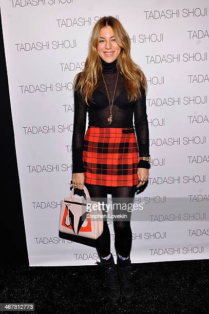 Dani Stahl poses backstage at Tadashi Shoji fashion show during MercedesBenz Fashion Week Fall 2014 at The Salon at Lincoln Center on February 6 2014...