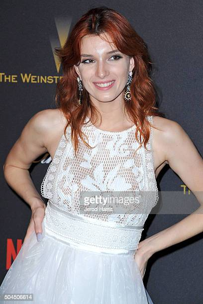 Dani Thorne arrives at the 2016 Weinstein Company and Netflix Golden Globes After Party on January 10 2016 in Los Angeles California