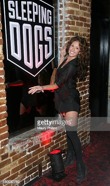 Dani Vitale attends the Sleeping Dogs Event at Dim Mak Studios on August 8 2012 in Hollywood California