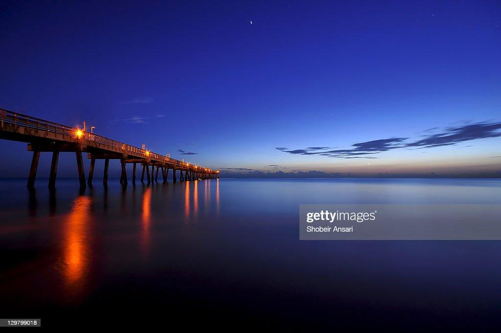 Dania Beach Fishing Pier At Sunrise Stock Photo Getty Images