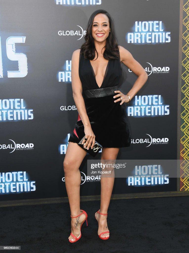 Dania Ramirez attends Global Road Entertainment's 'Hotel Artemis' Premiere at Regency Village Theatre on May 19, 2018 in Westwood, California.