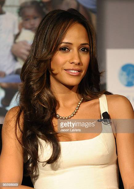 Dania Ramirez attends the Covergirl Clean Makeup for Clean Water Campaign announcement at Four Seasons Hotel on January 5 2010 in Beverly Hills...