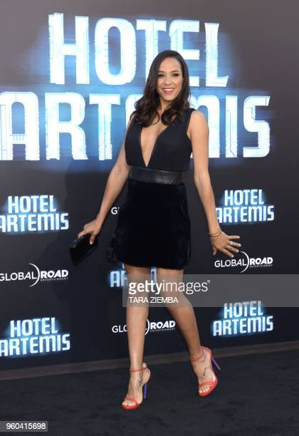Dania Ramirez attends the Los Angeles premiere of 'Hotel Artemis' on May 19, 2018 in Westwood Village, California.