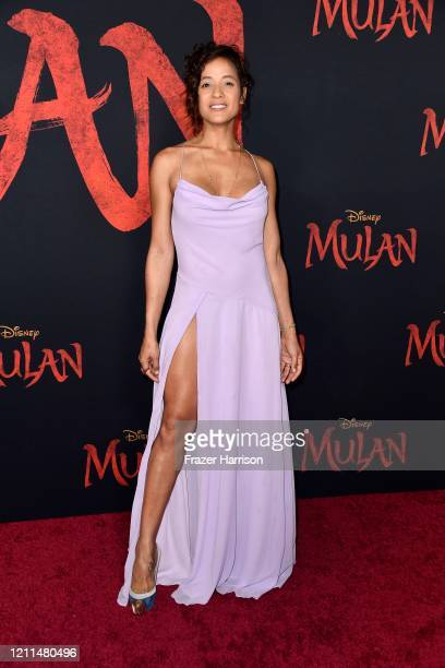 Dania Ramirez attends the premiere of Disney's Mulan at Dolby Theatre on March 09 2020 in Hollywood California