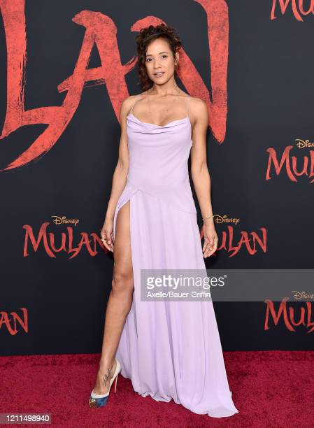 Dania Ramirez attends the premiere of Disney's Mulan on March 09 2020 in Hollywood California