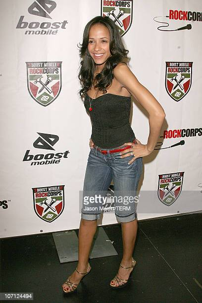 Dania Ramirez during Nick Cannon Young Jeezy Korn The Game and Rise Against Perform for 3000 Youth Volunteers at Boost Mobile RockCorps Concert Press...