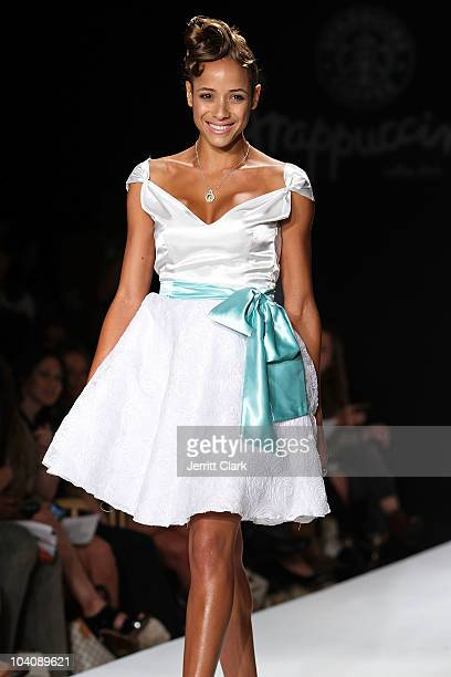 Dania Ramirez walks in the bobi/Boy Meets Girl/Caravan Spring 2011 at Style360 on September 14 2010 in New York City