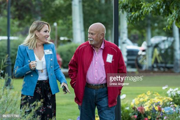 Danialle Karmanos and Peter Karmanos minority owner and chief executive officer of the Carolina Hurricanes hockey franchise attend the annual Allen...