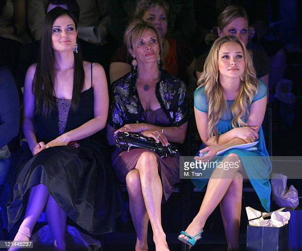 Danica McKellar and Hayden Panettiere front row at Kevan Hall Fall 2007