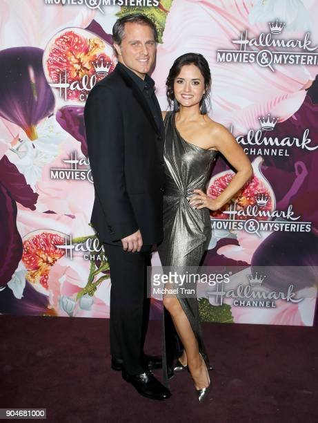 Danica McKellar and her husband Scott Sveslosky arrive to the Hallmark Channel and Hallmark Movies and Mysteries Winter 2018 TCA Press Tour held at...