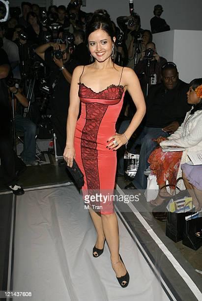 Danica McKellar front row at Dina BarEl Fall 2007