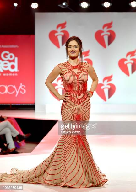 Danica McKellar walks the runway for The American Heart Association's Go Red For Women Red Dress Collection 2019 Presented By Macy's at Hammerstein...