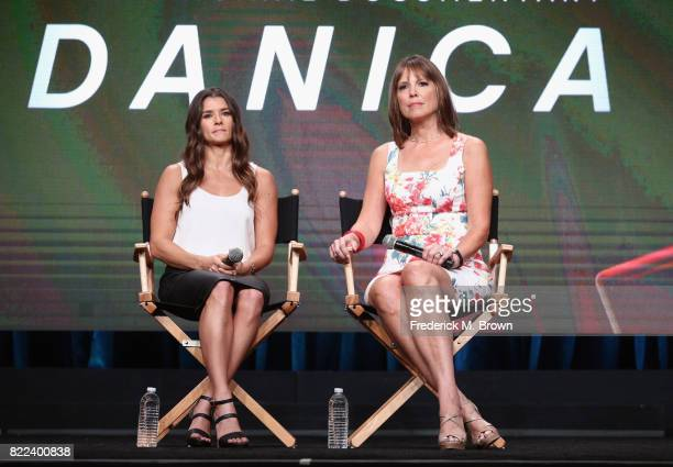Danica Patrick and director Hannah Storm of the documentary 'Danica' speak onstage during the EPIX portion of the 2017 Summer Television Critics...