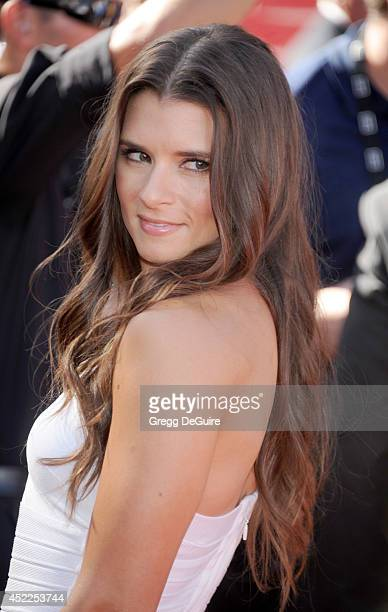 Danica Patrick arrives at the 2014 ESPY Awards at Nokia Theatre LA Live on July 16 2014 in Los Angeles California