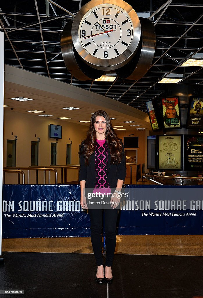 Danica Patrick Attends The Unveiling Of The New Tissot Swiss Watches Lobby  Clocks At Madison Square