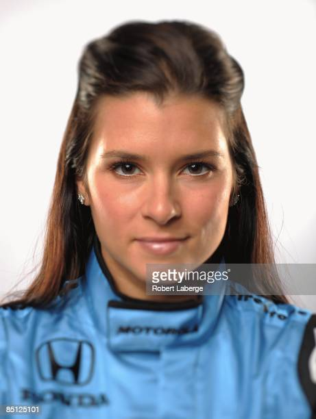 Danica Patrick driver of the Andretti Green Racing Dallara Honda poses for a portrait during the IRL IndyCar Series Spring Testing on February 24...