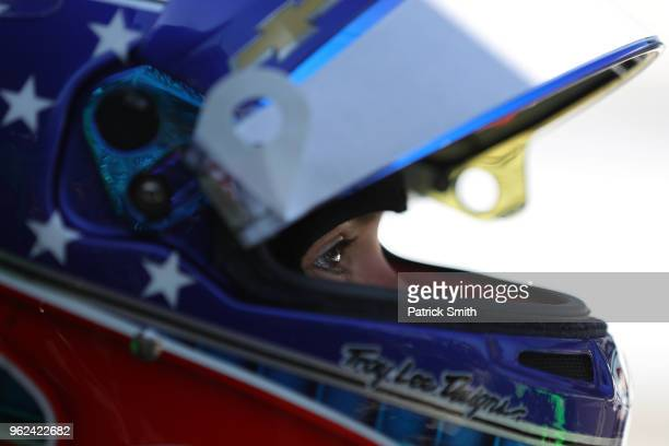 Danica Patrick driver of the GoDaddy Chevrolet looks on during Carb Day for the 102nd Indianapolis 500 at Indianapolis Motorspeedway on May 25 2018...