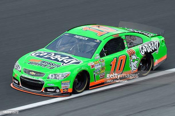 Danica Patrick driver of the GoDaddycom Chevrolet during practice for the NASCAR Sprint Cup Series CocaCola 600 at Charlotte Motor Speedway on May 23...