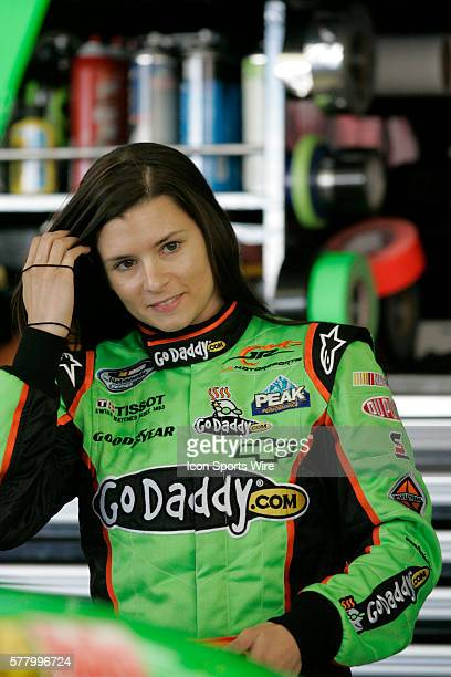 Danica Patrick driver of the GoDaddycom Chevrolet during practice for the 2011 Sam's Town 300 Nationwide Series race at Las Vegas Motor Speedway in...
