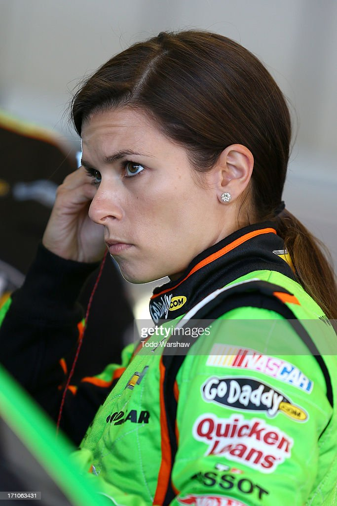 Danica Patrick, driver of the #10 GoDaddy.com Chevrolet, prepares to drive during practice for the NASCAR Sprint Cup Series Toyota/Save Mart 350 at Sonoma Raceway on June 21, 2013 in Sonoma, California.