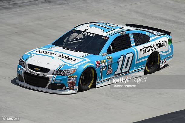Danica Patrick driver of the Nature's Bakery Chevrolet practices for the NASCAR Sprint Cup Series Food City 500 at Bristol Motor Speedway on April 14...