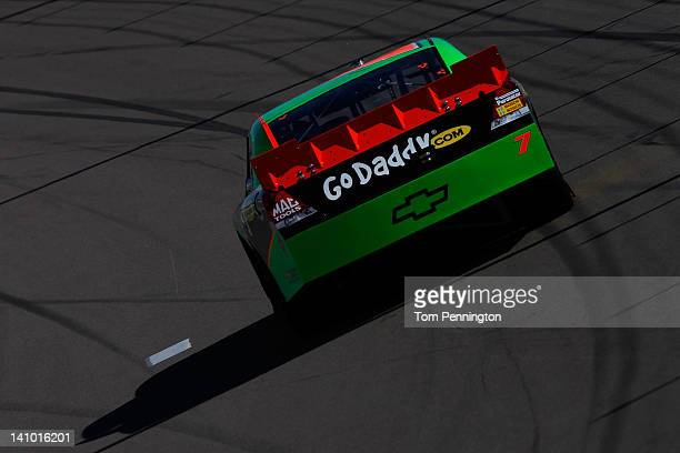 Danica Patrick drives the GoDaddycom Chevrolet during practice for the NASCAR Nationwide Series Sam's Town 300 at Las Vegas Motor Speedway on March 9...