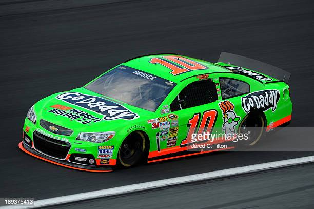 Danica Patrick drives the GoDaddycom Chevrolet during practice for the NASCAR Sprint Cup Series CocaCola 600 at Charlotte Motor Speedway on May 23...