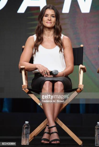 Danica Patrick of the documentary 'Danica' speaks onstage during the EPIX portion of the 2017 Summer Television Critics Association Press Tour at The...