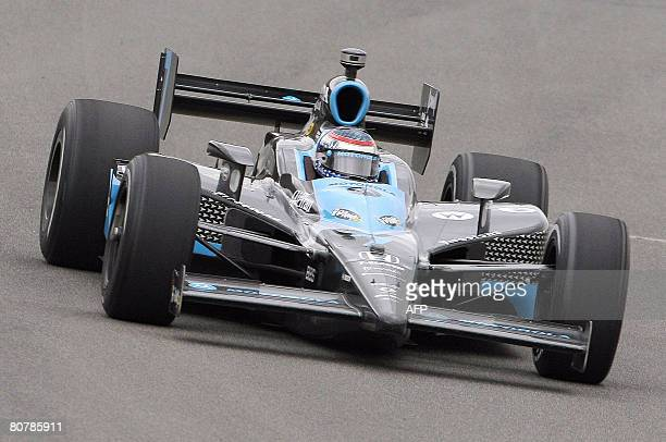 Danica Patrick of the US drives her Indy car during the Indy Japan 300 race at the Twin Ring Motegi race course in Motegi on April 20 2008 Patrick...