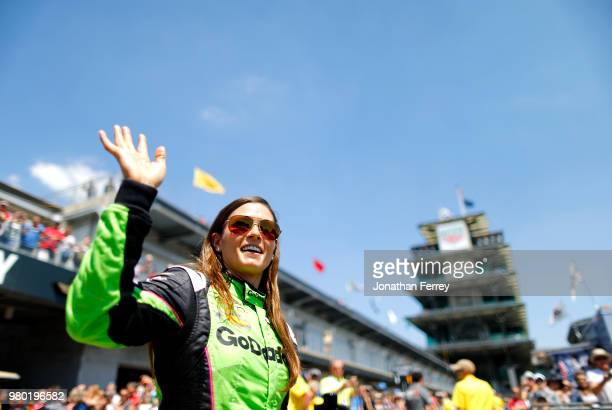Danica Patrick practices for the Indianapolis 500 race at the Indianapolis Motor Speedway on May 25 2018 in Indianapolis Indiana