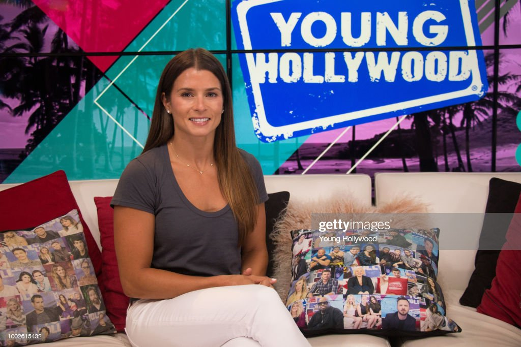 Danica Patrick visits the Young Hollywood Studio on July 17, 2018 in Los Angeles, California.