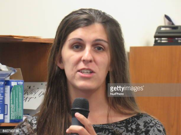 Danica Roem VA Delegate Candidate for District 13 speaks during press conference to announcing Next Up Victory Funds Virginia House of Delegates...