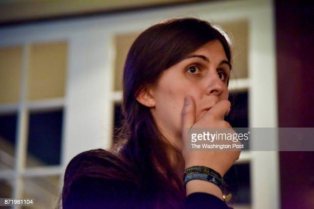 Danica Roem who ran for house of delegates against GOP incumbent Robert Marshall gets emotional after getting a call from Joe Biden congratulating...