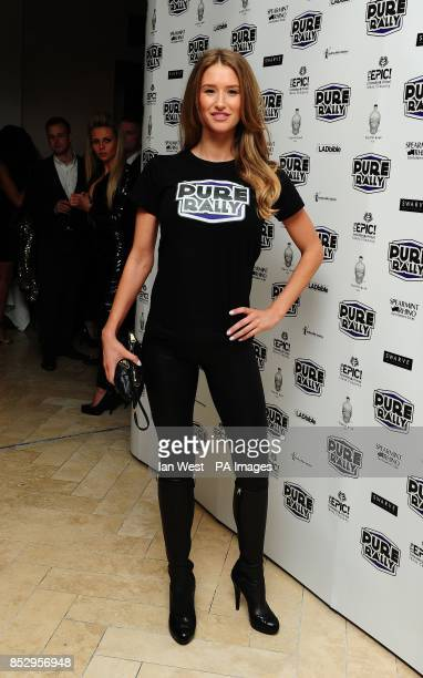 Danica Thrall at the launch of Pure Rally at the Millennium Mayfair Hotel London