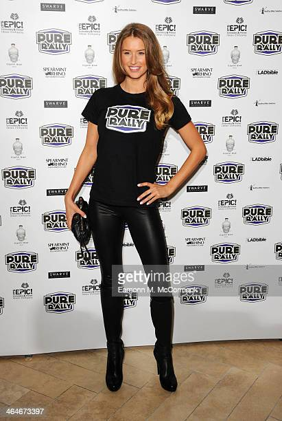 Danica Thrall attends the launch of the new 2014 Super Car Rally at Millennium Mayfair Hotel on January 23 2014 in London England
