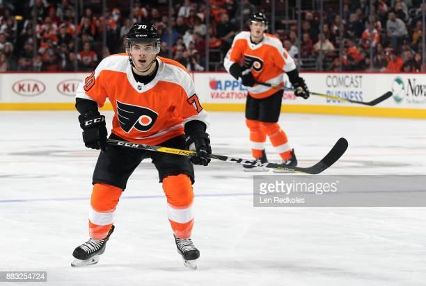 Danick Martel of the Philadelphia Flyers skates against the New York Islanders on November 24 2017 at the Wells Fargo Center in Philadelphia...