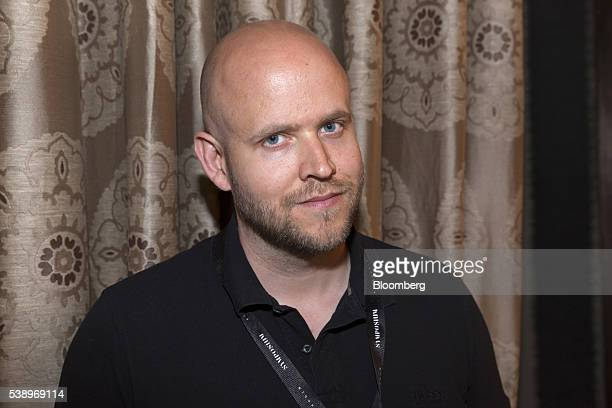 Daniek Ek chief executive officer and cofounder of Spotify Ltd poses for a photograph at the Symposium Stockholm 'Brilliant Minds' technology and...
