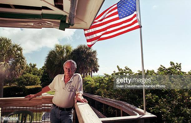 Daniel A Perez Cuban born waiter at the Lighthouse Cafe in the Bill Baggs Cape Florida State Park Key Biscayne poses for a photo on September 24 in...