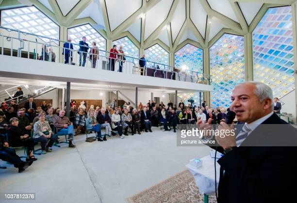 Daniel Abdin chairman of the AlNour Mosque formerly the Protestant Capernaum Church speaking on the ongoing construction during the Day of the Open...