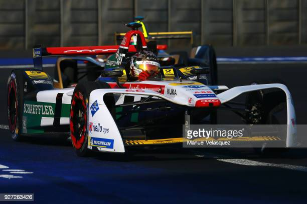 Daniel Abt of Germany and Audi Sport Abt Schaeffler competes during the Mexico EPrix as part of the Formula E Championship at Autodromo Hermanos...