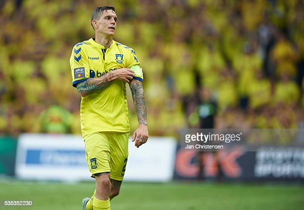 Daniel Agger of Brondby IF leaving the pitch during the Danish Alka Superliga match between Brondby IF and SonderjyskE at Brondby Stadion on May 29...
